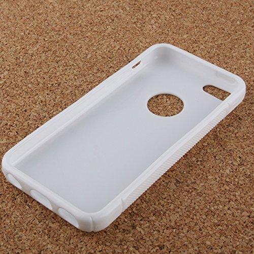 Wkae Case Cover S-Linie durchlässiges Antiblockier-bereifte TPU Schutzhülle für das iPhone 5C ( Color : Black ) White