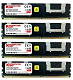 Komputerbay 16GB (4x4GB) DDR2 PC2-5300F 667MHz CL5 ECC Fully Buffered FB-DIMM (240 PIN) 16GB w/Wärmeverteilern
