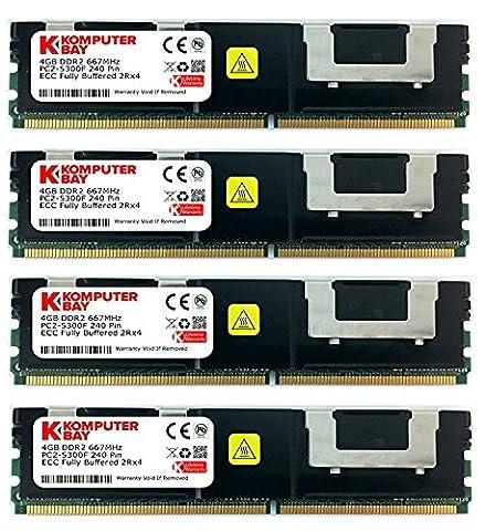 Komputerbay 16Go (4x4Go) DDR2 PC2-5300F 667 CL5 ECC Fully Buffered FB-DIMM (240 PIN) 16Go avec Epandage chaleur