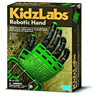 Kidz Labs - Robotic Hand - Kids Children Girls Boys - Simple Construction Kit - Number 1 Xmas Christmas Present Gift Fun Toys & Games Idea Age 8+