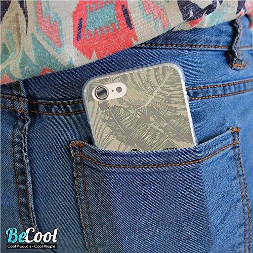 BeCool®- Coque Etui Housse en GEL Flex Silicone TPU Iphone 8, Carcasse TPU fabriquée avec la meilleure Silicone, protège et s'adapte a la perfection a ton Smartphone et avec notre design exclusif. Man L1309