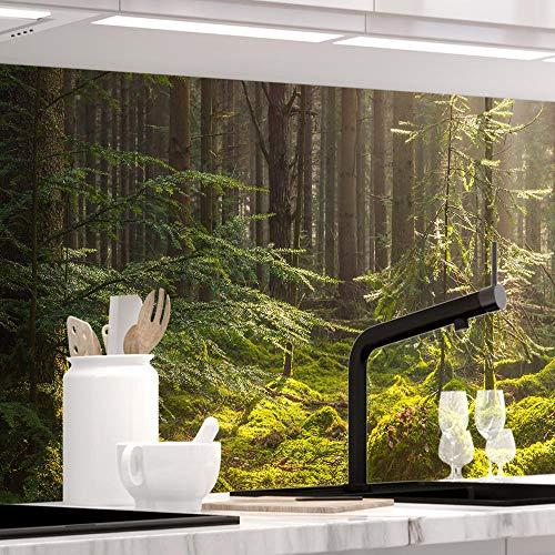 StickerProfis Küchenrückwand selbstklebend - MOOSGRUND - 1.5mm, Versteift, alle Untergründe, Hart PET Material, Premium 60 x 80cm