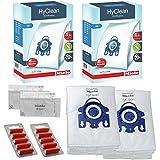 Miele - Sacs à Poussière Aspirateur GN - Solution HEPA Senseur Allervac Hyclean Original + Filtres (1 Boîte, 2 Boîtes + Désodorisants) - 2 boîtes : 8 sacs, 4 filtres + 10 désodorisants