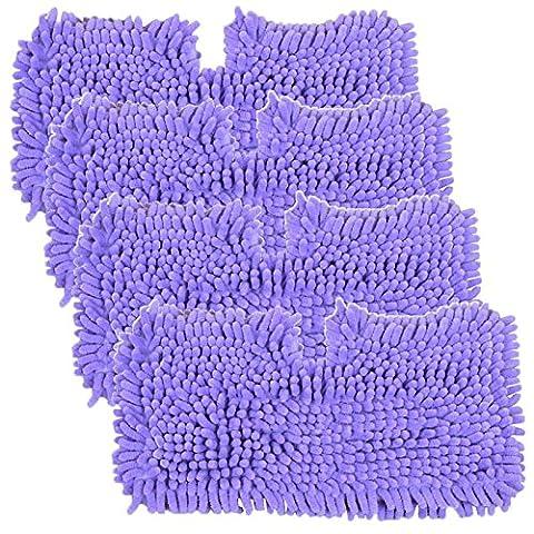 SPARES2GO Coral Cover Tasche, für Shark S2901 S3455 S3501 S3502 S3601 S3701 S3901 Dampfreiniger Mop (4 Stück, Violett