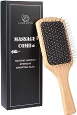 Haarbürste,LUOLLOVE Paddle Brush mit Natürlichen Borsten,AntistatischBambus Bürste,Geschenke Styling Haarbürste für Männer,Frauen und Kinder(C Art)
