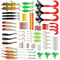 Goture Fishing Lures Tackle Set, 111pcs Including Topwater Fishing Frog Lures, Soft Lures, Squid Lure, Shrimp Bait, Ball Bearing Swivels, Tackle Box and More Fishing Gear Lures Kit Set from Goture