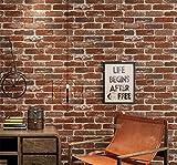 3D Stéréo Rétro Café Bar Restaurant Imitation Brique Tapisserie Épaissie Culture Brick Tendance Tapisserie,Un,Mural,Stickers Muraux,0.53M×10M