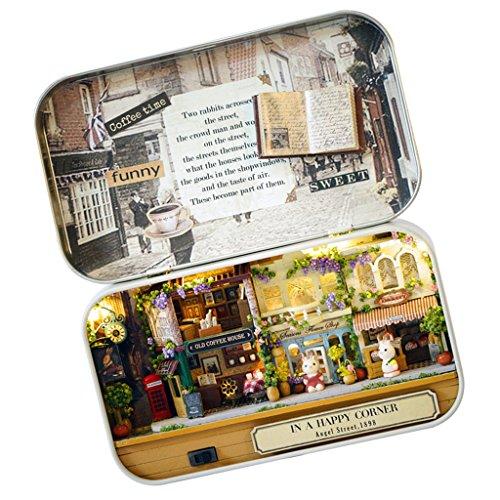 Puppenhaus Mini Welt in Box Theater Haus DIY mit LED Licht Weihnachten Geschenk Spielzeug für Kinder ab 12 Jahre - # A -