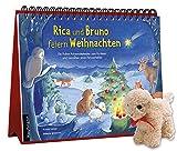 Rica und Bruno feiern Weihnachten: Ein Folien-Adventskalender zum Vorlesen und Gestalten eines Fensterbildes mit einem Stoffschaf