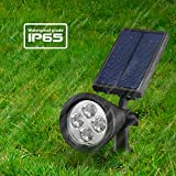 Led Solar Spotlights Outdoor, Mpow 2-in-1 Multi Use Solar Powered Outdoor Wall Security Light / Waterproof Solar Spotlight Landscape Lighting Security Lights 180°angle Adjustable, Auto On/Off for Garden, Outdoor, Lawn, Backyards, Outside Wall etc Bild 6