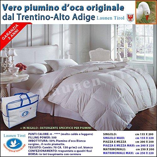 Piumone Piumino in Piuma d' Oca -LAUNEN TIROL - dal Trentino Alto Adige 250x200