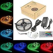 Lixada 5M/16.4ft SMD5050 300LED RGBW Flessibile Strisce LED Impermeabile IP68 DC 12V 12W 44 Chiavi Telecomando per La Decorazione Festa