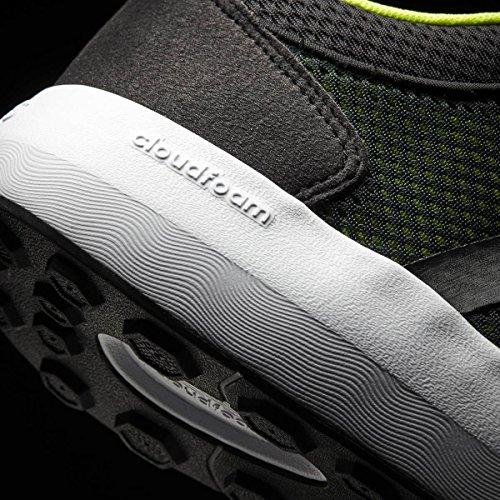 adidas Herren Cloudfoam Race Fitnessschuhe, Schwarz, 42 EU Schwarz