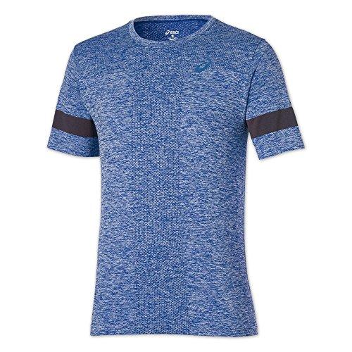 ASICS oberbekleidung manches courtes pour femme sans couture Bleu Bleu Bleu - Bleu