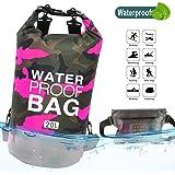 Idefair Vattentät torr väska, flytande torr ryggsäck strandväska lätt torr påse för stranden, båtliv, fiske, kajak, simning,