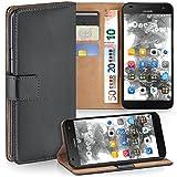 moex Huawei G7 | Hülle Dunkel-Grau mit Karten-Fach 360° Book Klapp-Hülle Handytasche Kunst-Leder Handyhülle für Huawei Ascend G7 Case Flip Cover Schutzhülle Tasche