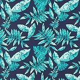 Unbekannt Badehosenstoff Palmenwedel – marineblau —