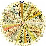 KAMIERFA 40 Stk. DIY Patchwork Baumwolle Stoffpakete 20 x