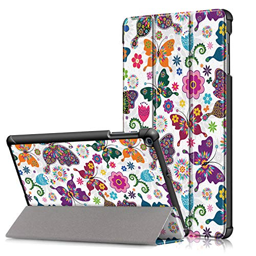 "Surom Case for Samsung Galaxy Tab A 10.1"" 2019 (Model SM-T510 / T515), Ultra Slim Lightweight Tri-Fold Stand Cover Case for Galaxy Tab A 10.1"" 2019, Butterfly"