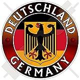 Vinyl Aufkleber Mit Deutschland Flagge Wappen Deutscher Adler 100 Mm Garten