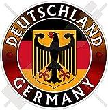 DEUTSCHLAND Flagge-Wappen Deutscher Adler, Deutsch 100mm Auto & Motorrad Aufkleber, Vinyl Sticker