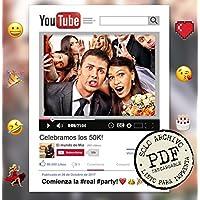 PDF de Marco photocall DIY personalizado YouTube. (Solo archivo PDF listo para imprimir).