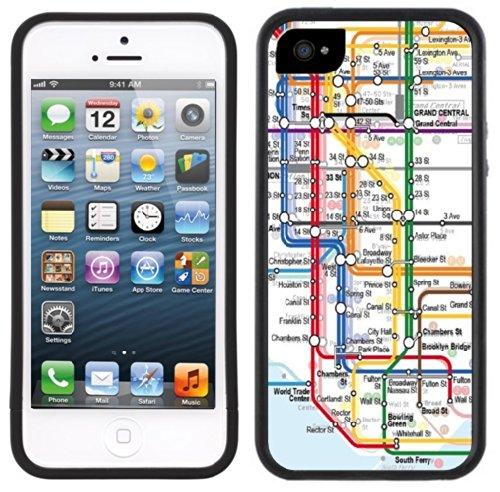 new-york-city-subway-fait-la-main-iphone-4-4s-etui-housse-noir
