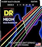 DR Neon Gitarrensaiten NMCE-9 Guitar Strings Multi Colour, lite .009 - .042