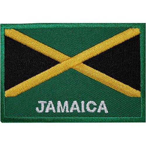 Parche bordado bandera Jamaica coser planchar