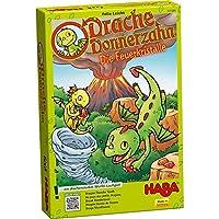Haba-301890-Drache-Donnerzahn-Spiel HABA 301890 Drache Donnerzahn – Die Feuerkristalle -