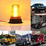 LITTOU 15 Watt LED Strobing Blinkende Notfallleuchte Warnleuchte 30-LED Gelb / Gelb für Auto Lkw Bus Dach Top (1 STÜCKE)