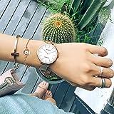 MAMONA-wasserdicht-Uhr-aus-Quarz-in-Rosengold-fr-Frauen-als-Geschenkset-und-Maschenarmbanduhr-Ultradnn-L3881RGGT