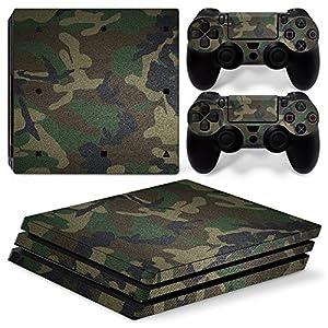 VINCORP Sony PS4 Playstation 4 Pro Skin Design Foils Aufkleber Schutzfolie Set – Camouflage Army Bundeswehr Bund [PlayStation 4] …