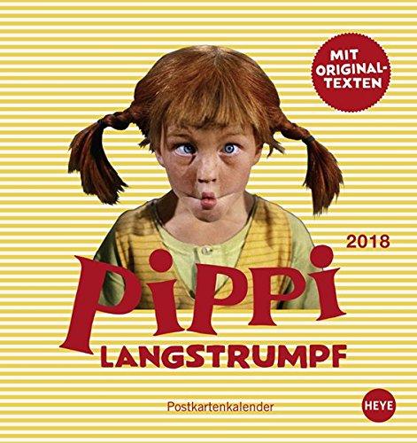 Preisvergleich Produktbild Pippi Langstrumpf Postkartenkalender - Kalender 2018