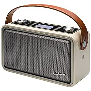 goodmans heritage hp1wht portable digital radio ivory. Black Bedroom Furniture Sets. Home Design Ideas