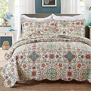 beddingleer tagesdecke patchwork baumwolle tagesdecken. Black Bedroom Furniture Sets. Home Design Ideas