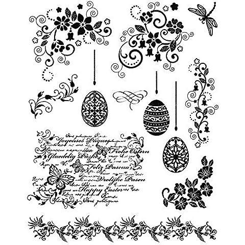 Viva Decor D13 - Sellos de silicona, diseño de huevos de Pascua y guirnaldas