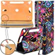 FUSION5 XTRA 10.1 Tablet Case Tablet Case New Design TAN Universal 360 degree Rotating PU Leather Designer Colourful Stand Case Cover - Jellyfish by Gadget Giant�