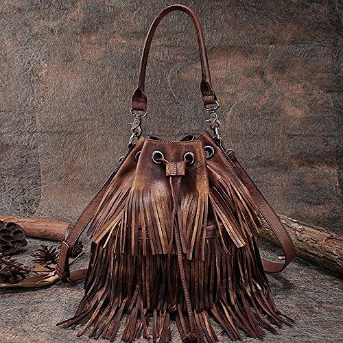 Nouveau style de la première couche à la main en cuir sacs à bandoulière sacs à main sacs de femmes Brown