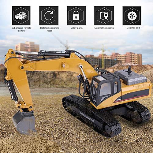 RC Auto kaufen Baufahrzeug Bild 6: Dilwe Fernbedienung Engineering Fahrzeug RC Bagger 2.4G 1:14 Skala 3 in 1 RC Elektro Modell Bagger Engineering Baufahrzeug Spielzeugauto*
