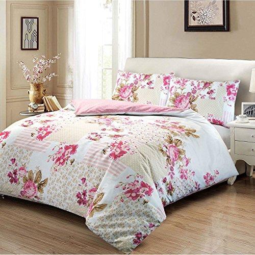 Bettwäsche-Set aus 100 % Baumwolle, Motiv: Viktorianische Rose (Blumenmuster), in verschiedenen Größen erhältlich, 100 % Baumwolle, multi, Doppelbett -