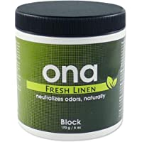 ONA Block Fresh Linen Fragrance - Odour Eliminator, Neutralise Odours Safely, Naturally and Permanently - 170g
