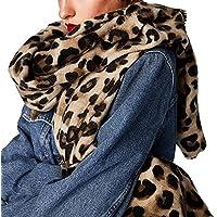 OME&QIUMEI Herbst Winter Schal Verdickung Leopard Schal Schal