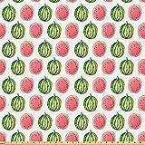 ABAKUHAUS Wassermelone Stoff als Meterware, Tropische