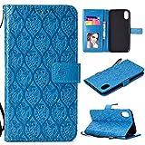 BoxTii Coque iPhone XR, Etui en Cuir [avec Gratuit Protection D'écran en Verre...