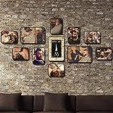 Unbekannt [Loves] pcs Schwarz Bilderrahmen Set Weinlese-Friseursalon-Foto-Wand-Friseursalon- / Friseur-Wand-Dekoration 11 Fotorahmen-Kombinations-Hintergrund-Wand (Farbe : I)