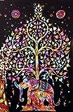 Handicrunch tree of life elephant tapestry