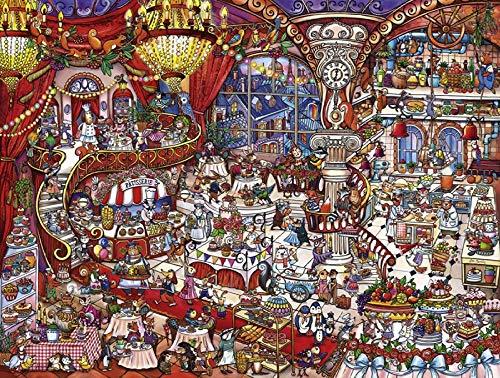 JinLzs Stücke Puzzle Holz Cartoon Dessert Haus Erwachsene Kinder Montage Lernspielzeug Dekorative Geschenke-1000 Puzzleteile Aus Holz, 75X50Cm Classic 1000 Dessert
