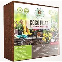 Coco&Coir Fibra De Coco en Ladrillo | 100% Natural, Orgánico y Ecológico | Para Mejor Retención de Agua y Nutrientes | Ideal para Lombricultura | Compost de Cascara de Coco Comprimido | 30x13x30 cm