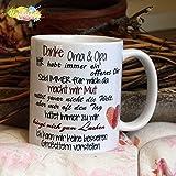 Kaffeebecher ~ Tasse - Danke Oma & Opa (ICH) ~ Weihnachten Geschenk